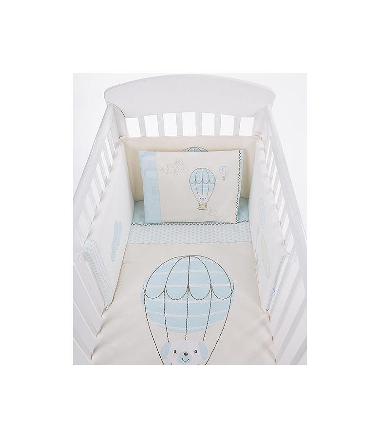 Parure de lit 6pcs 70/140 Chiot sur ballon