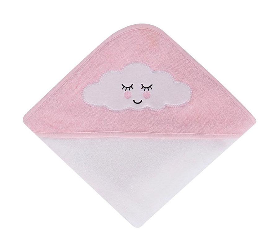 Sortie de bain velours 80/80 cm Sleepy Cloud rose