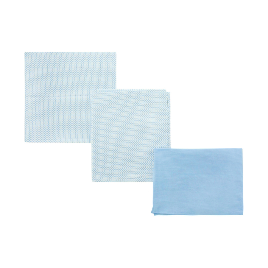 Jeu 3 pcs.parure de lit 100×165 cm be giraffe bleu