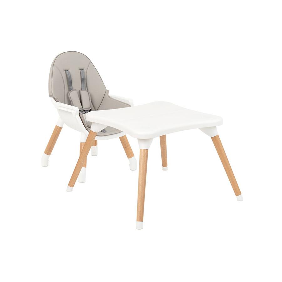 Chaise haute en bois Multi 3in1 Gris