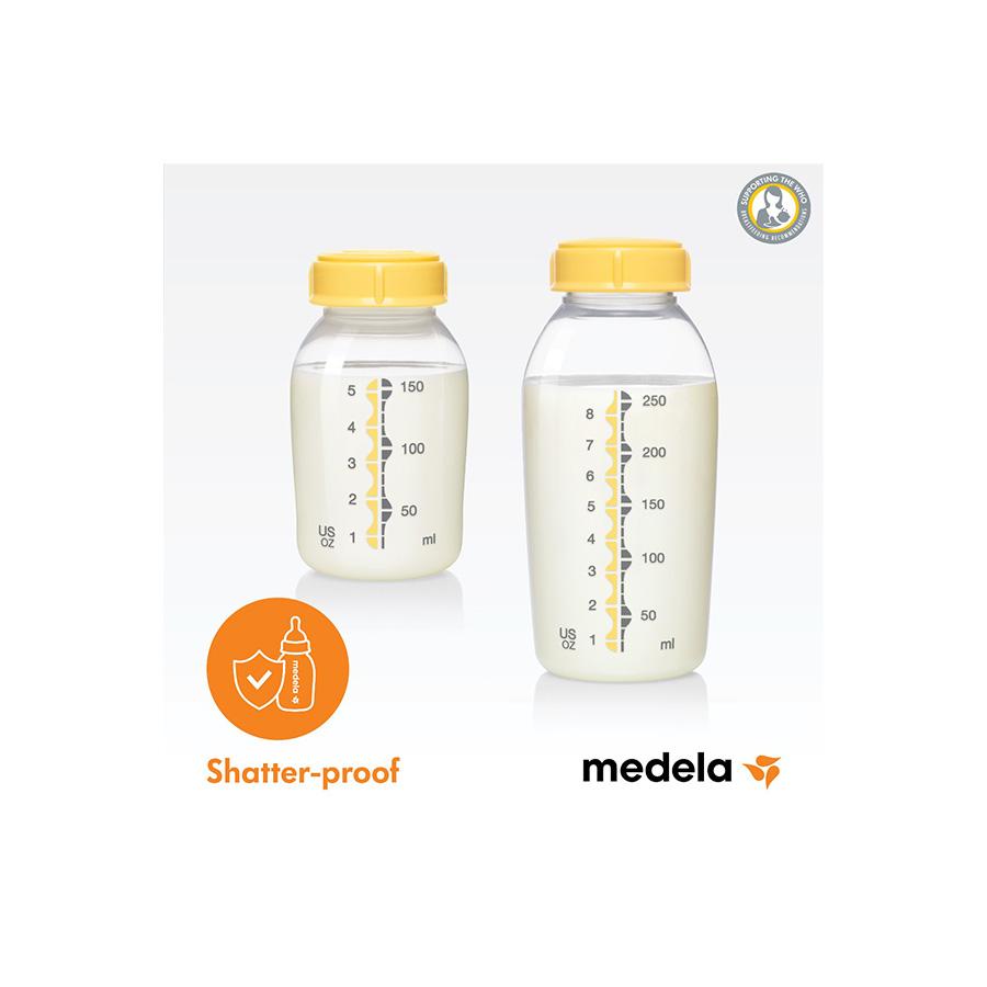 Kit de 2 pots de conservation de lait maternel 250 ml