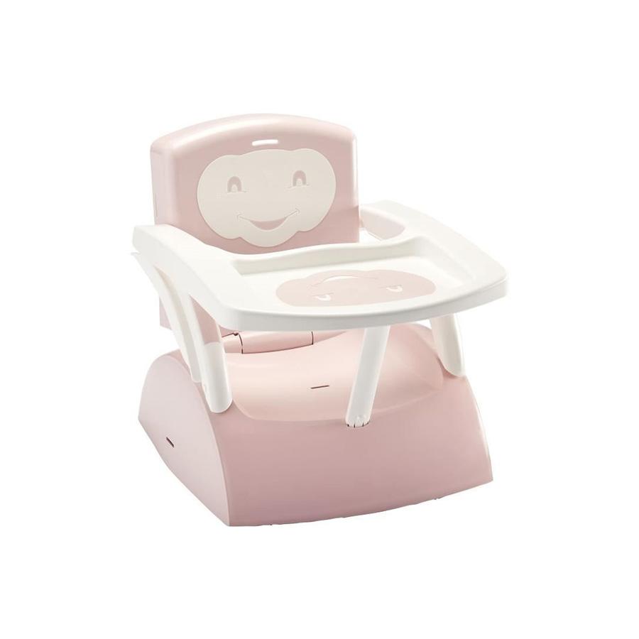 Rehausseur de chaise 2en1 évolutif rose poudré/ soft blanc cassé
