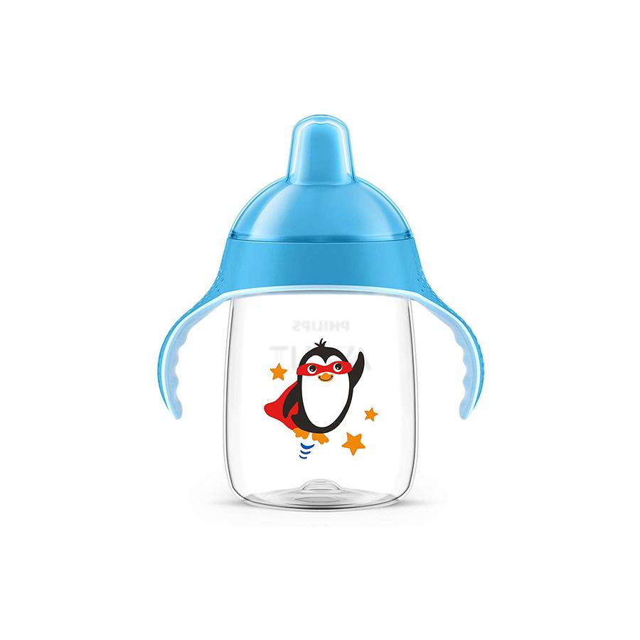 Tasse à bec pingouin 340ml Bleu 18 mois +