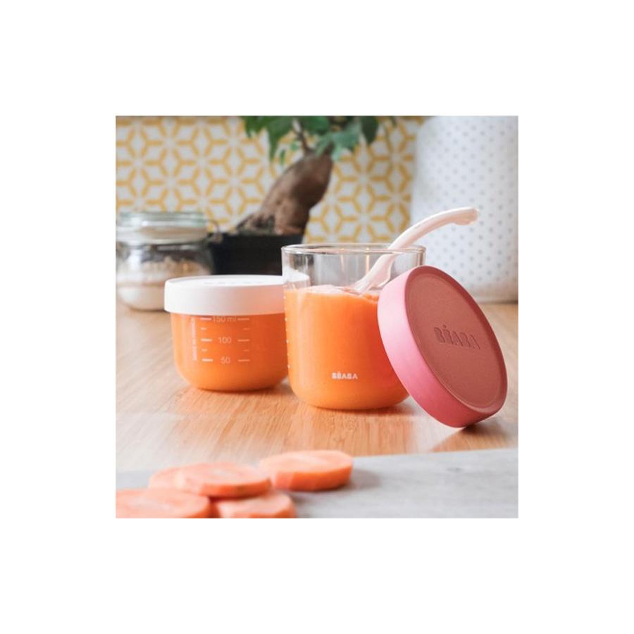 Coffret de 2 portions Verre 150 et 250ml pink