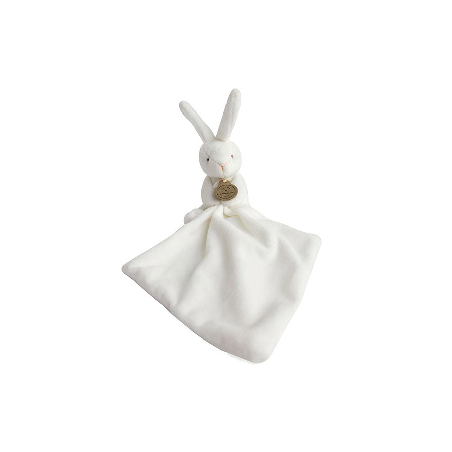 Lapin mouchoir en boite fleur – 10 cm