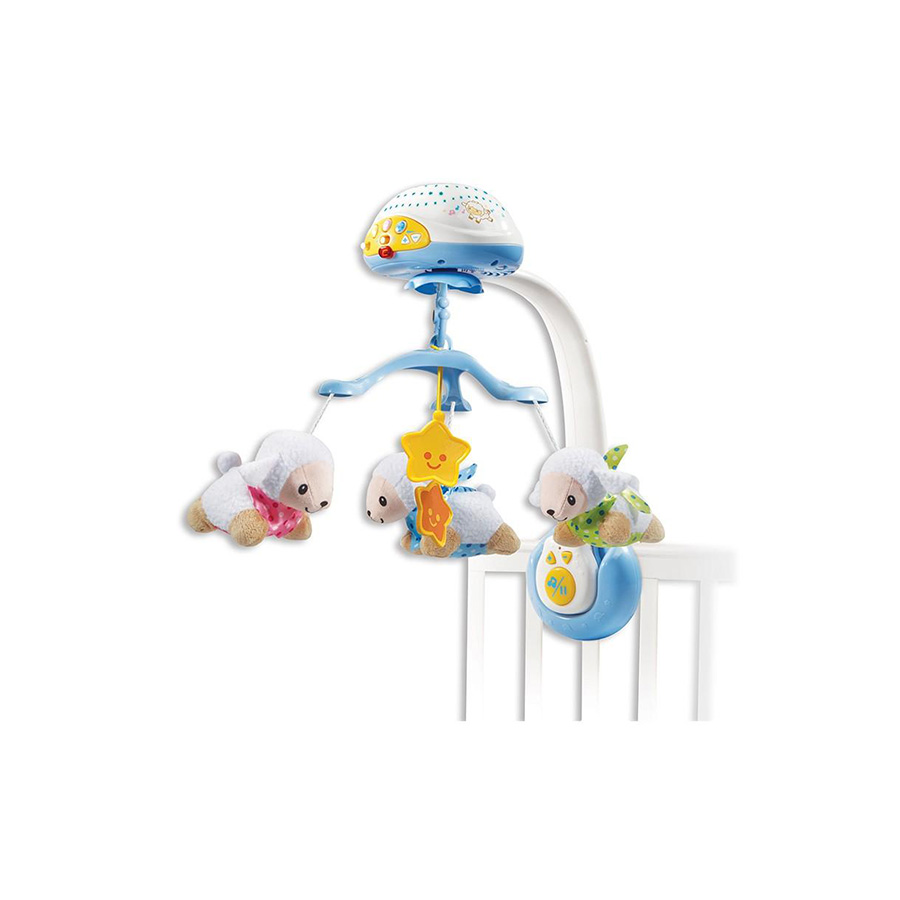 Lumi mobile Compte-moutons bleu