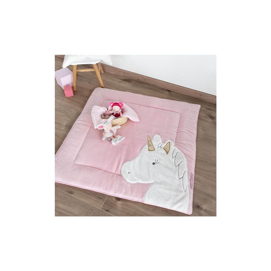 Tapidou – Licorne rose – 100 x 100 cm