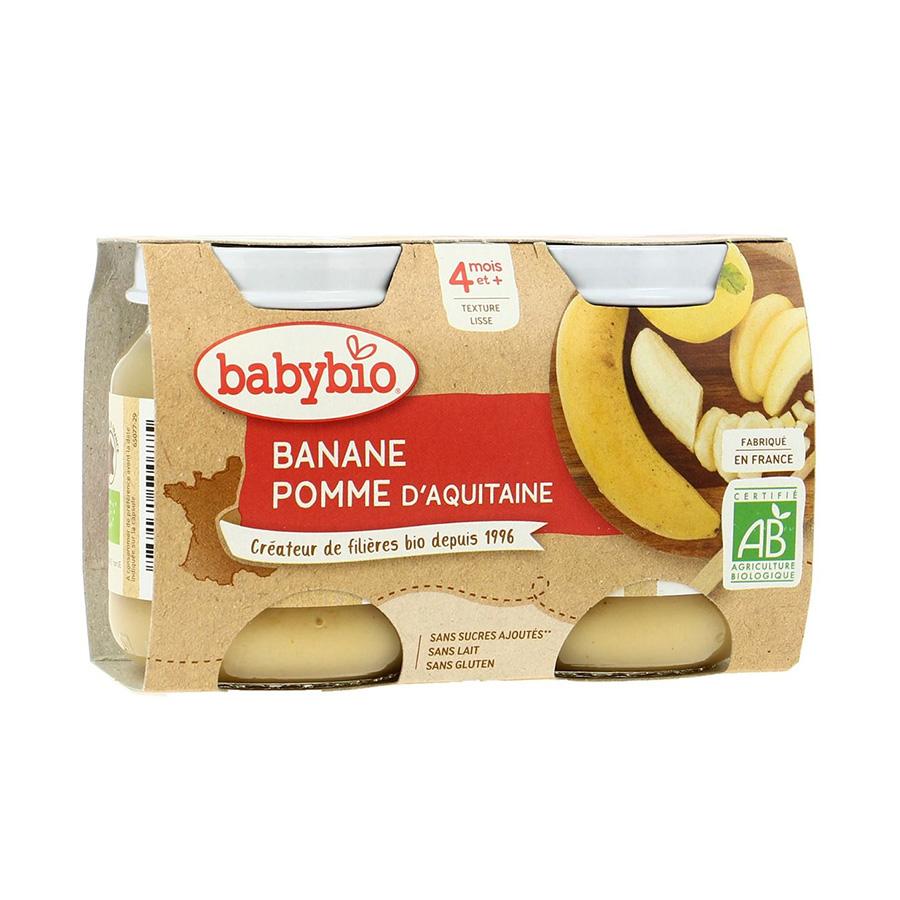 Babybio – Pot pomme banane de nouvelle aquitaine 2*130gr