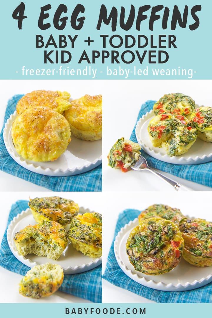 4 breakfast egg muffins baby toddler