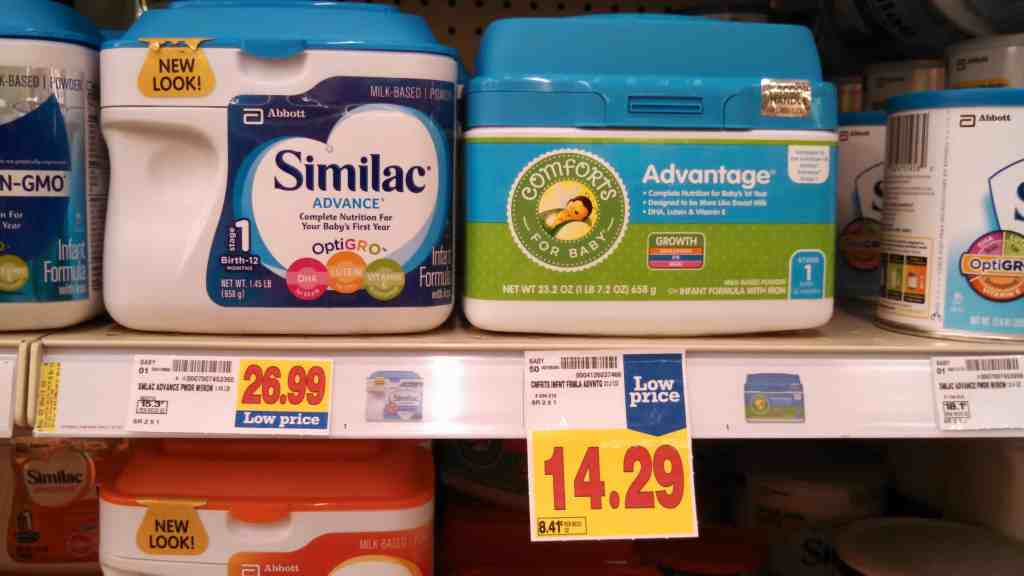 Generic formula comforts for baby Advantage