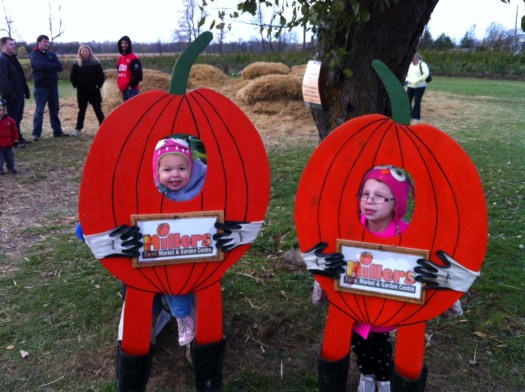 My two little pumpkins