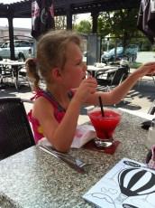 Enjoying a drink at Dow's Lake Pavillion.