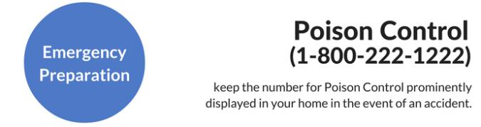 emergency preparation: poison control phone
