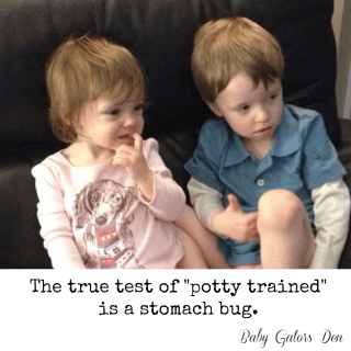 Potty Training & the Stomach Bug