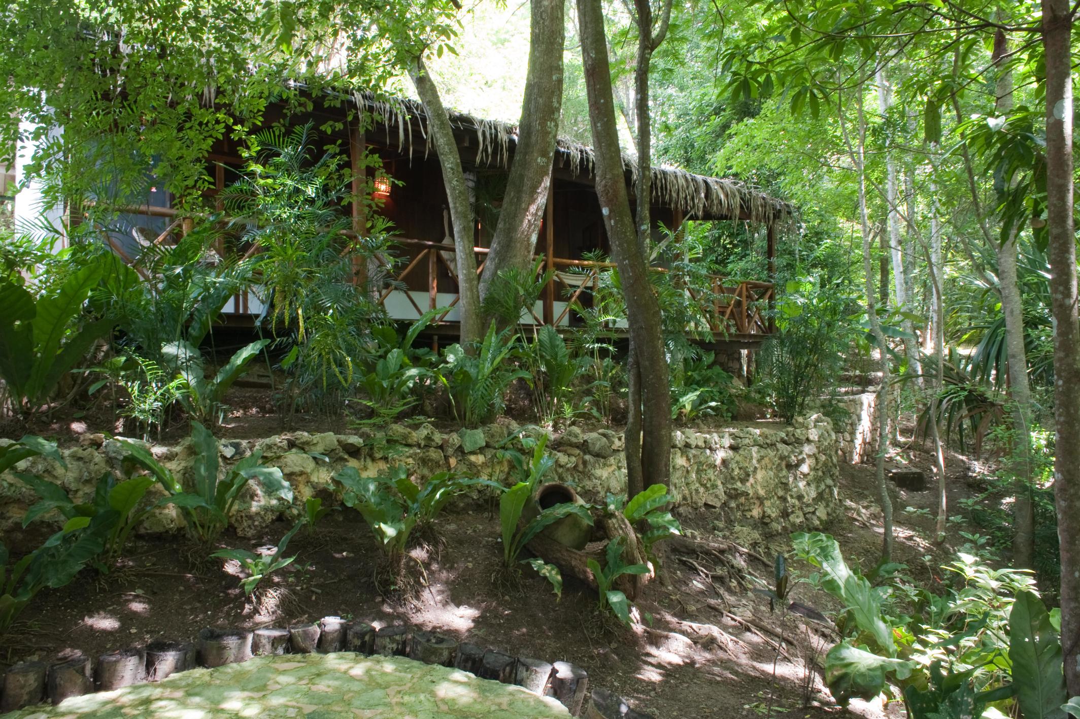 exterior view of Rainforest Casita at La Lancha