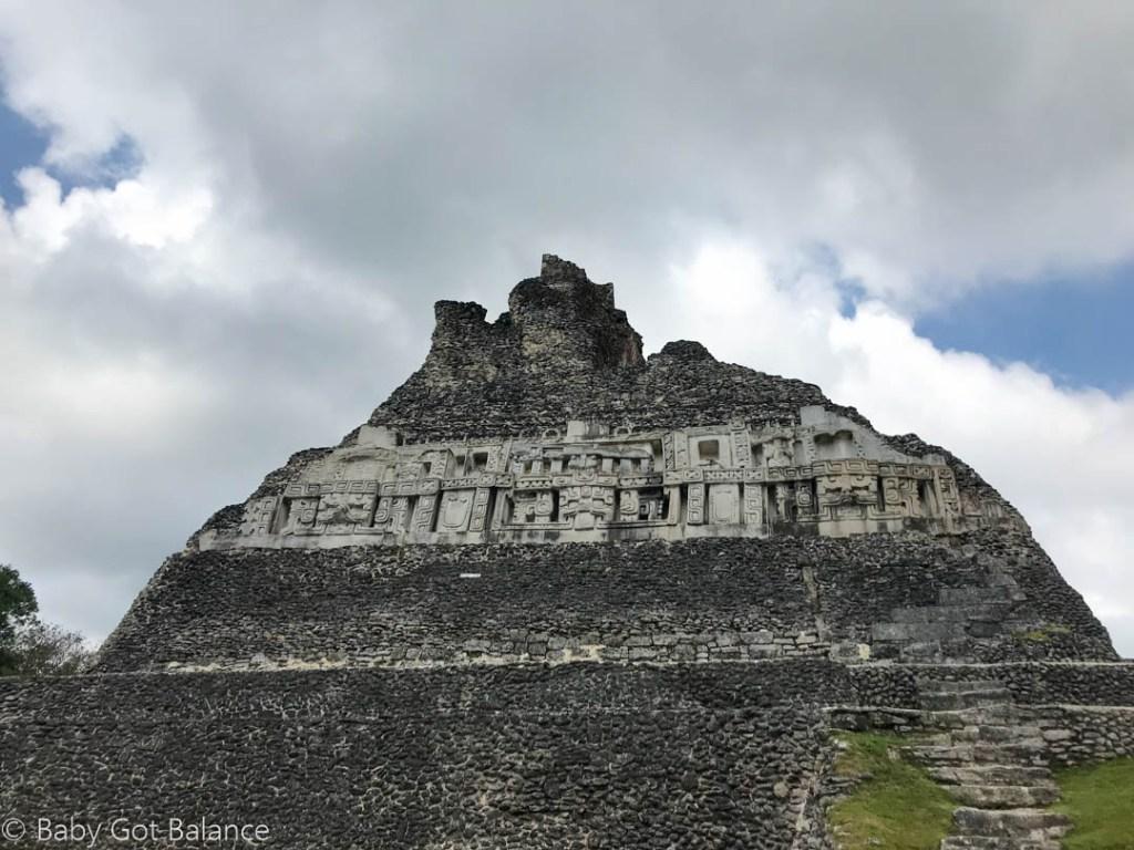 main Mayan ruin structure at Xunantunich in Belize