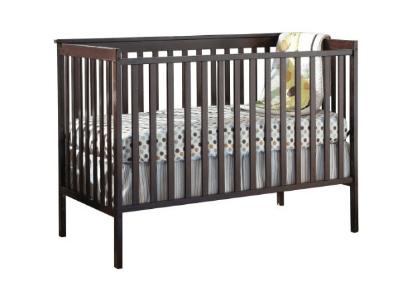 Stork Craft Sheffield Fixed Side Convertible Crib, Espresso