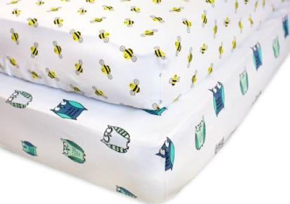 fitted crib sheets 100 organic jersey cotton - Crib Sheets