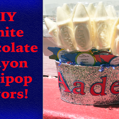 DIY White Chocolate Crayon Lollipop Favors!