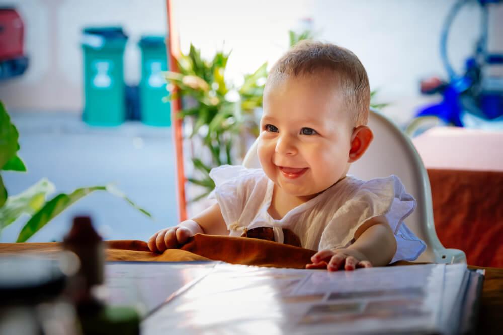 Bebê no restaurante