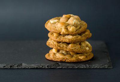Macadamia White Chocolate Chunk Cookies