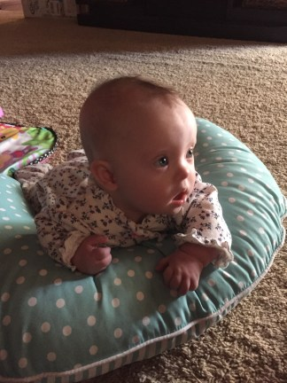 Tummy time on her Boppy