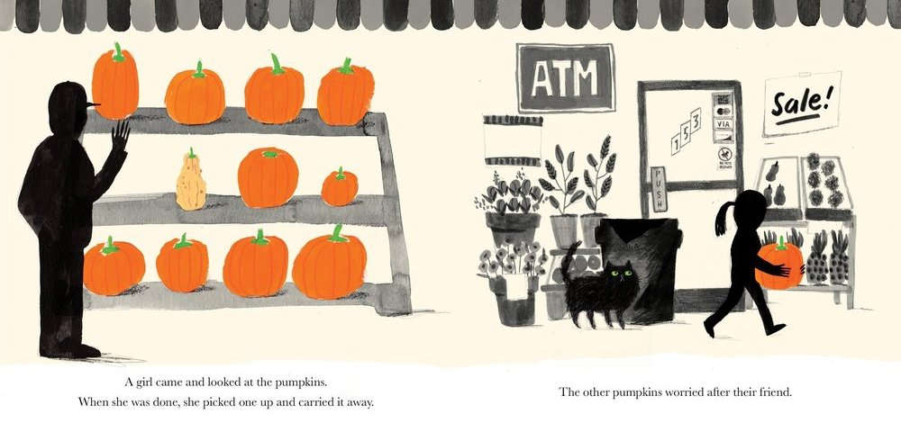 Spread from Stumpkin by Lucy Ruth Cummins
