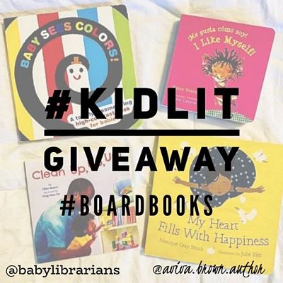 Image of board books for an Instagram Giveaway