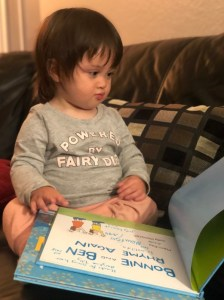 Tilly reads Bonnie and Ben Rhyme Again