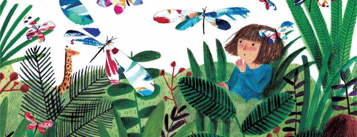 Featured spread of There's a Tiger in the Garden