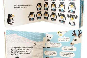 Inside pages of Mibo board books, featured image