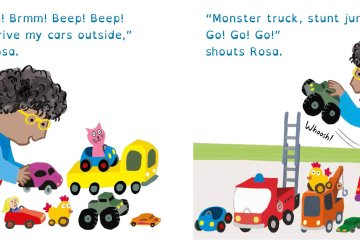 Spread of Rosa Loves Cars
