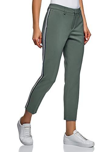 Pantalon Slim Fit à Bandes Latérales, Vert, FR 42 / L