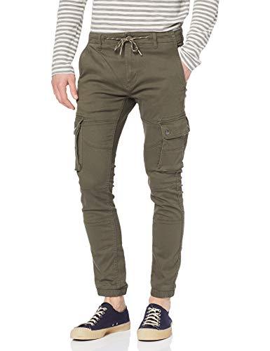Pantalon, Vert Kaki, W34/L34 (Taille Fabricant:44) Homme