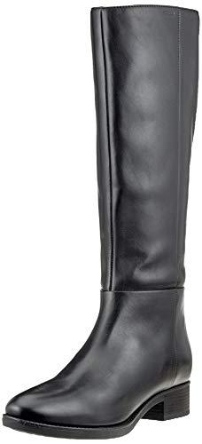 Geox D Felicity D, Bottes Hautes Femme, Noir (Black C9999), 39 EU