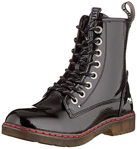 Mustang 1235-503-9, Rangers Boots Femme, Noir (Schwarz 9), 38 EU