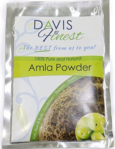 Davis meilleurs Amla Poudre - Soin naturel pour endommagés bouclés Cheveux ternes Mous - La pousse des cheveux Traitement fortifiant et épaississant Produit - Shining soyeux brillant Cheveux (100g)