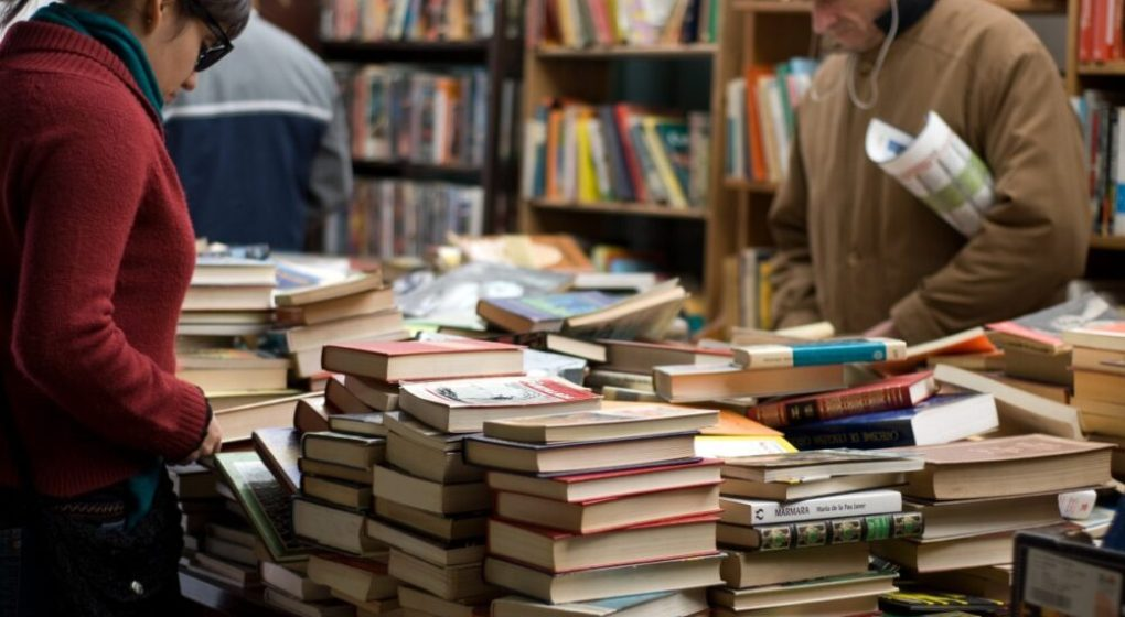 People at a book fair