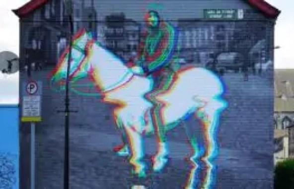 One of Subset's pieces 'Horseboy' on Stirrup Lane