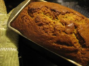 Banana bread fresh from the oven October 2009
