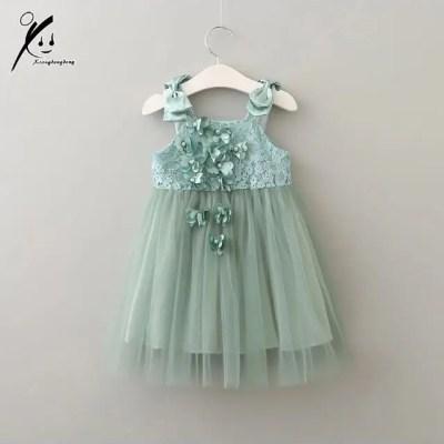 Vestido para bebe verde