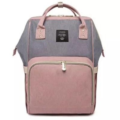 Mochila pañalera Pink and gray