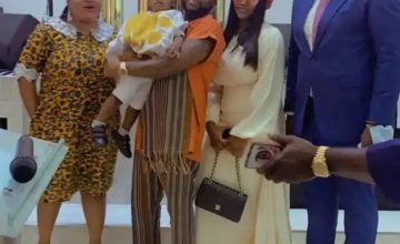 Davido and Chioma Attend Church Together With Their Son, Ifeanyi (Video)