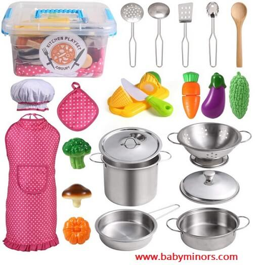 Kitchen-Pretend-Play-Toys-with-Stainless-Steel-gift-ideas