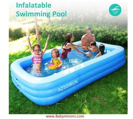 AZSSMUK Inflatable Pool,Full Sized Adult Inflatable Swimming Pool Kiddie Pools for Family Kids, Adults, Infant, Garden, Backyard, (1)