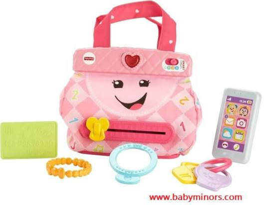 Fisher-Price-Laugh-Learn-My-Smart-Purse-Latest Gifts Ideas For 1 Year Old Baby Girl In 2020