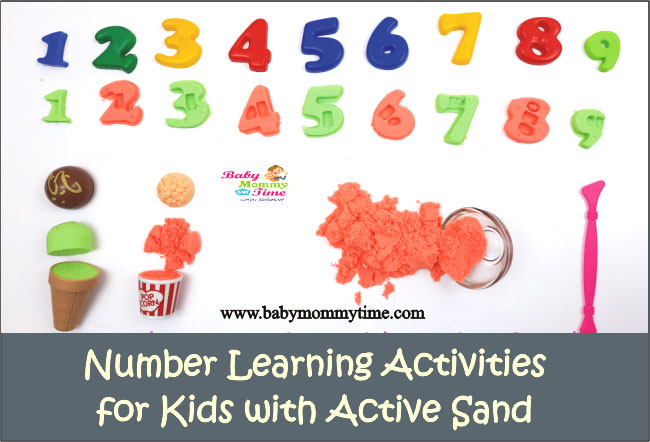 Number Learning Activities for Kids with Active Sand