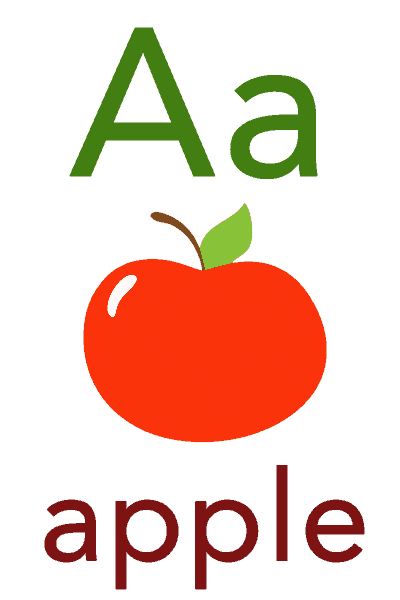 Baby Mozart ABC Flashcard for Children - A for Apple