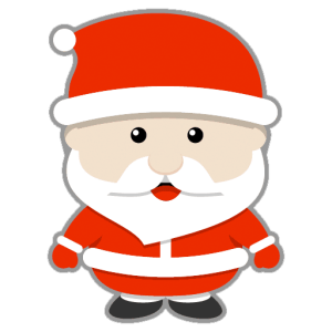 A cartoon santa claus making funny ho ho ho sounds