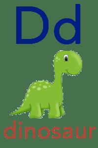 Baby ABC Flashcard - D for dinosaur